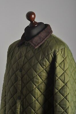 Men's BARBOUR Genuine Quilted Green Jacket Coat Size L