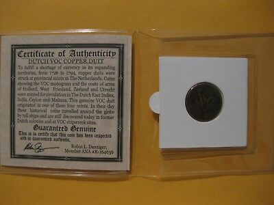 17xx Netherlands East India Company Duit old copper coin colonial trade