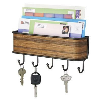 Key Rack Letter Holder Wall Mount Hanger Mail Organizer Storage Entryway Home