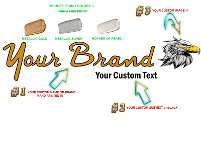Custom Made Headstock Decal.100% Customization. Fenderr Font. Your Brand Name