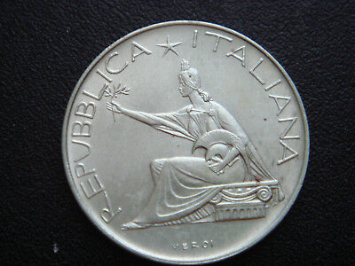 1961 ITALY Silver 500 Lire in UNC Condition.
