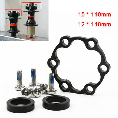 Front Rear Hub Adapter Thru Axle to 15*110 to 12*148 Boost Fork Conversion Great