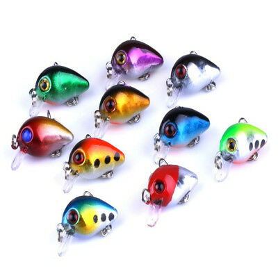 Fishing Lures Mini Bass Crankbait Lifelike Swimbait with Treble Hooks 3D Eyes