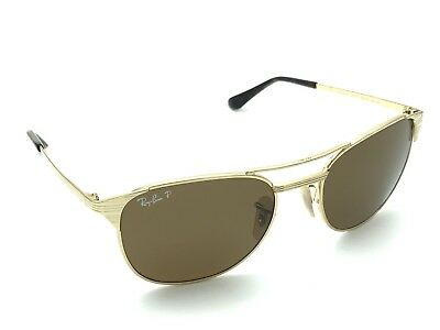 dcf042e7512ddb RAY-BAN SIGNET RB 3429-M 001 57 Polarized Gold Sunglasses Brown Lens ...