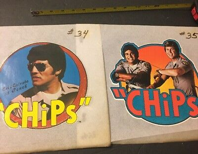 Vintage Iron On T-Shirt Transfers Chips Tv Show