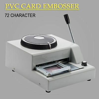 72-Character PVC Manual Credit Card Embossing Stamper Machine Embosser