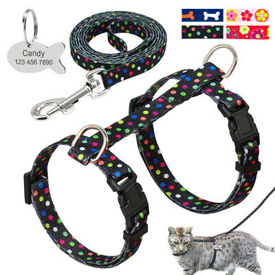 Small Cat Walking Harness &Leash Safety Pet Kitty Clothes Dog Harness Lead
