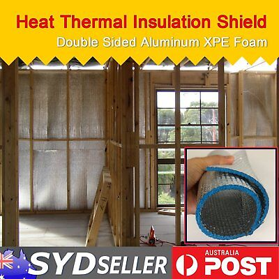 Silver Foil Sided Heat Insulation Cooling Shield House Loft Shed Garage XPE Foam