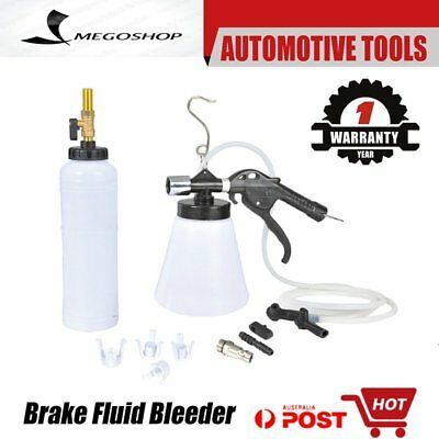 1L Air Brake Bleeder Kit Clutch Vacuum Bleeding Extractor Fluid Fill Adapters FK