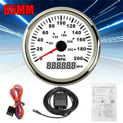 85mm Compass Digital GPS Speedometer Gauge Odometer Car Marine 0-140 mph 2 Types