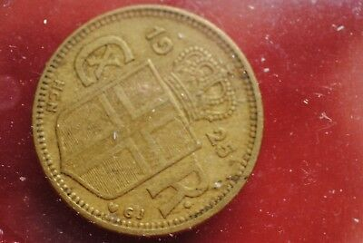 Iceland 1925 1 Krona coin in very fine/extra fine