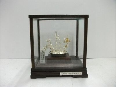 The tree of the  pine, bamboo, and plum of virgin silver. BONSAI. #46g/ 1.62oz.