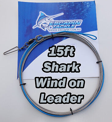 Wind on Shark Leader 400lb. 15ft. Shark Fishing Leader.