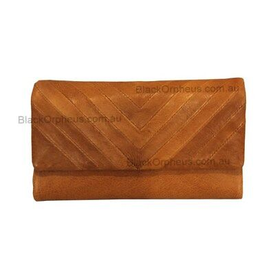 Leather Wallet, Tan, Genuine Leather, Charlotte Oran Leather Wallet