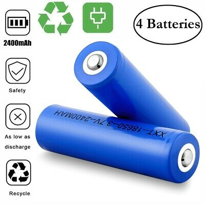 Batterie Pile Accu Rechargeable 18650 2400mAh / Chargeur Simple Double Lion 3.7V