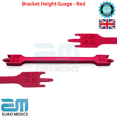 Bracket Height Gauge Red Color Ortho Positioning Measuring Guage Dentistry Tools