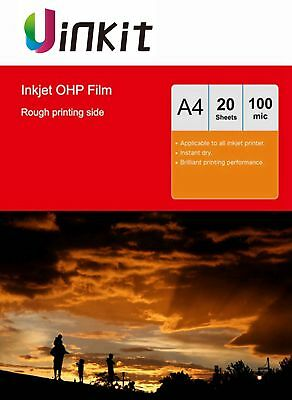 A4 Overhead Projector OHP Film Acetate Clear For Inkjet With Stripe - 20 Sheets