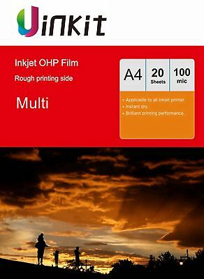 A4 OHP Film Acetate Transparent For Inkjet Overhead Projector Film - 20 Sheets