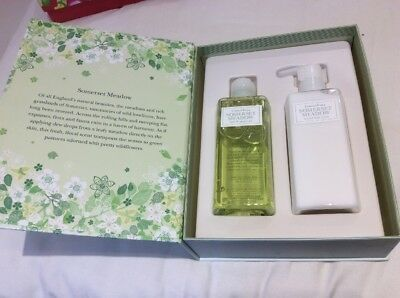 Crabtree & Evelyn Somerset Meadow 200ml Shower Gel & Body Lotion Boxed Gift Pack