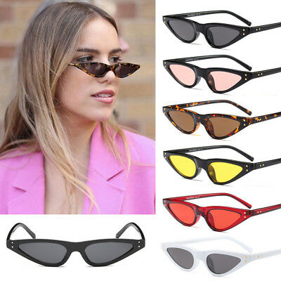 Womens Fashion Vintage Small Cat Eye Triangle Sunglasses UV400 Eyewear Glasses
