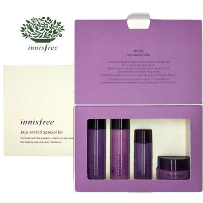 [INNISFREE] Jeju Orchid Firming Anti-Aging 4pcs Special Kit TRAVEL SIZE NEW