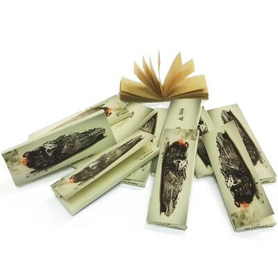 CD*T Cigarette Hemp Rolling Papers 77*45mm 10 Booklets=500 leaves smoking & Tips