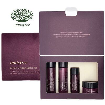 [INNISFREE] Perfect 9 Repair Anti-Aging 4pcs Special Kit TRAVEL SIZE NEW