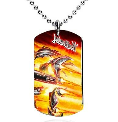 Judas Priest, Firepower - Colgante, Dog Tag, Placa militar