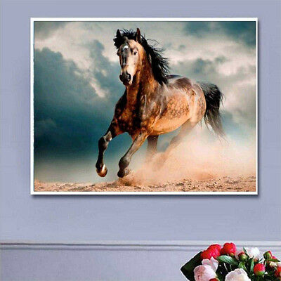 Horse DIY Full Drill 5D Diamond Painting Embroidery Cross Stitch Kit Art Decor