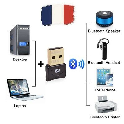 Mini USB Adaptateur Dongle Clés Bluetooth4.0 EDR pour Win XP 7 8 10 PC Ordinateu