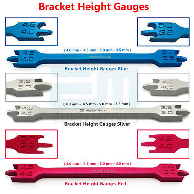 Professional Orthodontic Bracket Height Gauges Braces Positioning Measuring Tool