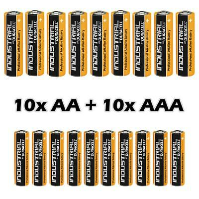 10 AA +10 AAA Duracell Industrial Alkaline Batteries LR6 MN1500 Procell 2024 exp