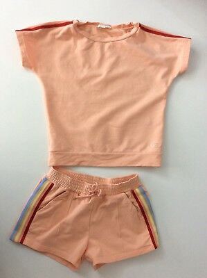 Chloe Orange Outfit Set Orange Shorts & Top Age 8 Years Vgc