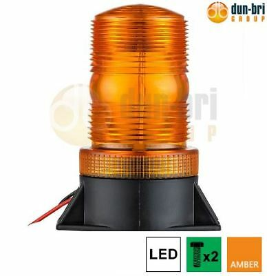 DBG 12V-36V Two Bolt LED Strobe Heavy Duty High Profile Hazard Warning Beacon