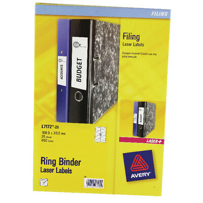 Avery Ring Binder Label 25Sheet L7172