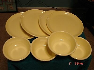 Rubbermaid Bowls #3836 Yellow Dinner Plates #3840 Lot of 4 each Vintage & RUBBERMAID BOWLS #3836 Yellow Dinner Plates #3840 Lot of 4 each ...