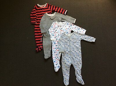 Boys Size 0 Winter Onsie Bundle