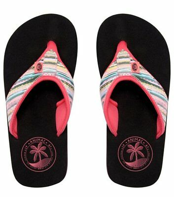 GIRLS ANIMAL SWISH GLITZ MULTI FLIP FLOPS TOE POST THONG SANDALS FM9SQ804 279
