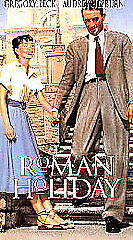 Roman Holiday ~ Gregory Peck, Audrey Hepburn, Eddie Albert, Hartley Power  VHS *