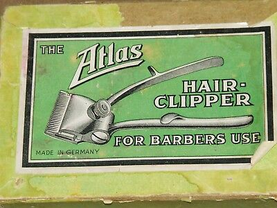 Antique Unused Hair Clippers with Box and Great  Graphic Label