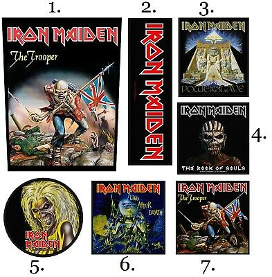 Iron Maiden Patch Embroidered Patches Music Heavy Metal Concert Official Harris