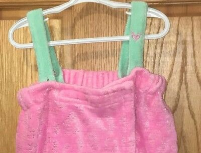 Justice Girls Spa Bath Wrap Towel/Robe With Adjustable Straps Size XS/S
