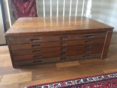 Vintage Mid Century Plan Chest / Architects drawers / Map Chest