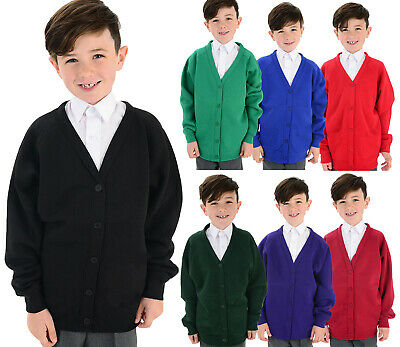 TBoys & Girls Unisex School Cardigans - Ages 3-13 - Many School Colours Lot