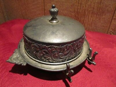 Antique Meriden Chilled Butter Dish Silverplate Caviar server
