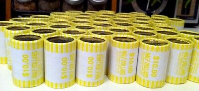 (1) Unsearched Bank Sealed Half Dollar Rolls Possible 40% 90% Kennedy Franklin