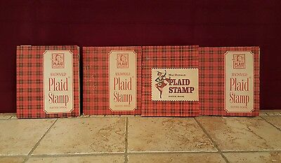 Vintage MacDonald Plaid Stamp Saver Books, Lot of 4, FREE SHIPPING!!