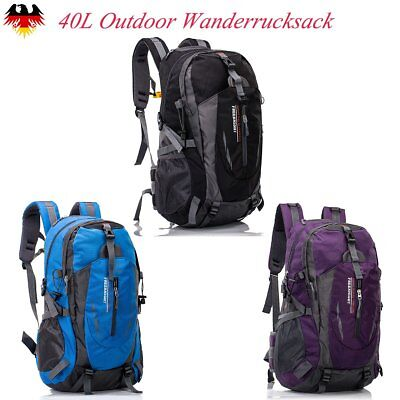 40L Outdoor Wanderrucksack Reisetasche Laptop Sporttasche Hiking Backpack Nylon