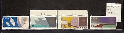 MALTA Anniversaries and events stamps 1983 SG 714-717 MNH