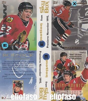 1995  TRE SHEET SKYBOX e FLEER METAL HOCKEY